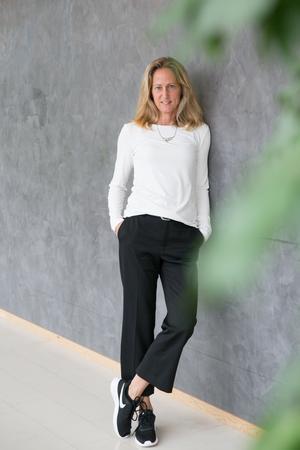 """""""Jag har varit intresserad av miljöfrågor hela livet så det tänker jag på hela tiden, på hur jag lever, hur jag reser, vad jag köper för kläder, vad jag äter"""" säger Katarina Ageborg."""