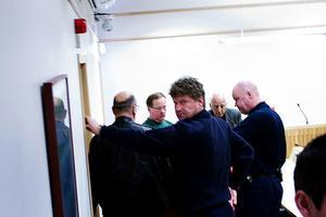 Anders Eklund under häktningsförhandlingen i Falu tingsrätt den 18 april 2008.