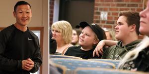 Kändistränaren Mårten Nylén tillbringade en del av onsdagen på Fränstaskolan där han både föreläste och fick en inblick i ungdomarnas vardag och aktivitetsutbud.