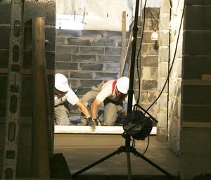 Arbeten i simhallen (18 juli 2007).