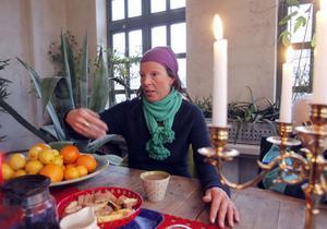 Trädgårdsmästaren Maria Bremefors har många visioner med sitt pomeranshus.