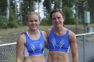Nikki Sjöberg (till vänster) och Malin Ström, Bollnässprinters på SM.