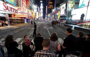 Tusentals turister utrymdes från Times Square under lördagskvällen, lokal tid. BILD: SCANPIX