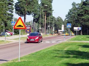 Rondell 3: Gavlehovsvägen vid de nya bostäderna som ska byggas norr om Parken.