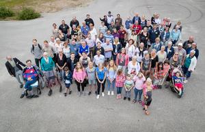 Släktträffen med ättlingar efter faktor P. J. Wickzell och Anna Wickzell i Nordanhå lockade 89 personer till Lillhärdal.