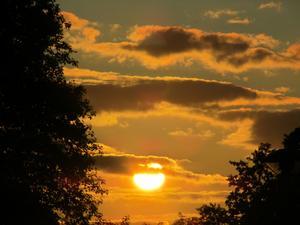 På en av mina kvällspromenader tog jag denna bild på solnedgången.