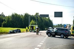 På tisdagen inträffade en trafikolycka i Överhörnäs.