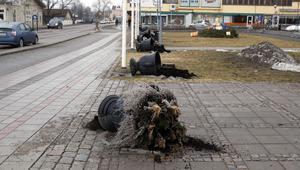 De dekorativa gjutjärnskrukorna mitt i centrum av Ljusdal förpassades alla i viloläge då vandaler drog genom byn natten till torsdag.