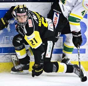 Målgörare. Christopher Mastomäki blev målskytt i matchen mot Björklöven.  Foto: Tony Persson/Arkiv