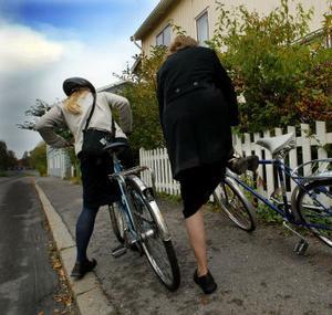 Det händer att cyklarna kommer fram för missionsarbetet men inte så ofta. Avstånden är långa och Sundsvall är ingen cykelvänlig stad med alla sina backar.
