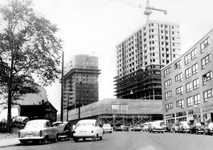 1963. Ny stadsbild. Krämarhusen byggs.