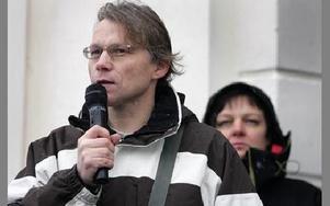 Svante Parsjö Tegnér, representant för Lärarnas Riksförbund, försvarade lärarnas kritik mot sparkraven.FOTO: BERIT DJUSE