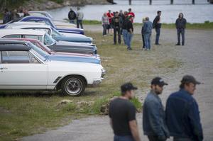Alla möjliga bilsorter och årsmodeller radades upp i parken när det var premiär för Åkdoj och termos.
