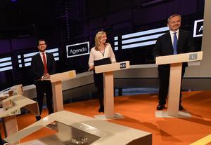Partiledardebatt med Jimmie Åkesson (SD), Ebba Busch Thor (KD) och Jan Björklund (L).