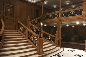 Trappan i Titanic - likadan i den kopia som byggs av skeppet. Nu ska ett nytt hotell dessutom inredas med Titanic som tema.