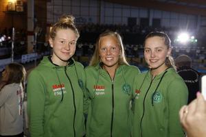 Hannah Brunzell, Frida Berggren och Edith Jernstedt.