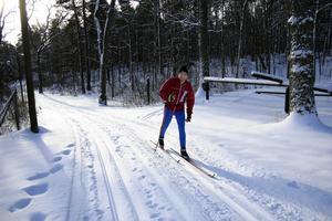 Skidspår: Alla belysta motionsspår spåras för skidåkning. Bilden är från 2006 och föreställer Altti Järvinen på skidor.