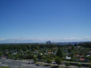 Jag o mitt barnbarn åkte pariserhjulet på miniland passade på att ta detta fina kort med utsikt över Halmstad