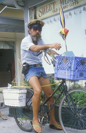 Med flip flops och cykel tar man sig fram på Key West.   Foto: Joseph Sohm/Shutterstock.com