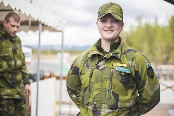 Mathilda Bergström har sedan femton års ålder intresserat sig för det militära.
