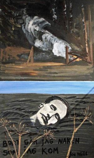 Konstnären Hans Wigert har inspirerats av Joe Hill.