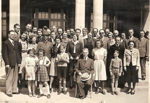 Sudettyskar som flytt till Sverige, bilden tagen 1940 eller 1941.