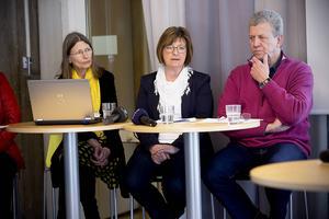 Eva Andersson (MP), Elisabet Strömqvist (S) och Lars-Gunnar Hultin (V) saknade besked på onsdagens presskonferens.