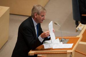 Den 17 februari läste utrikesminister Carl Bildt upp Sveriges utrikesdeklaration inför riksdagens ledamöter.