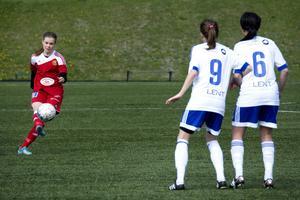 Isa Kollberg var mycket delaktig i matchen vilket resulterade i ett mål.