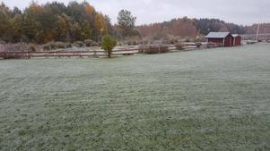 Även i Mora snöade det på fredagen, men där låg snön knappt kvar på marken.