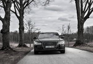 Nya Audi A8 är stor och komfortabel som en limousin men har prestanda som en Porsche 911 Carrera. Trots att den drivs av en dieselmotor. Tysk ingenjörskonst när den är som bäst.