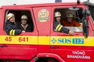 Kenneth Engmalm, Bengt-Olov Eriksson, Leif Bergman och Anders Tång är stolta över att ortsborna stod på sig och bildade Trönö brandvärn.