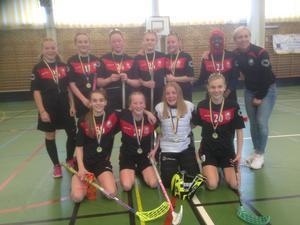 Det vinnande laget från Röda Berga-skolan.