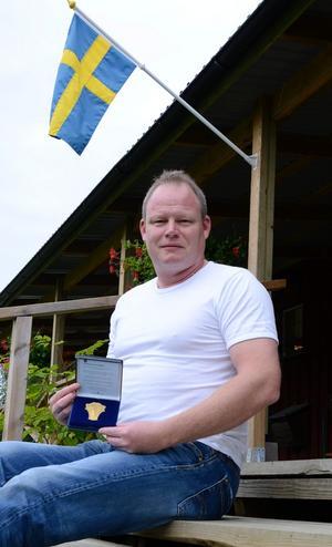 Guldmedaljör. Anders Runnkvit var sugen på seger och den här gången stämde allt. Nu kan ha titulera sig Svensk mästare i nordisk trap 2012.