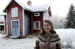 Målning utvändigt är det som återstår och sedan Maria Norgren definitivt konstatera att renoveringen är klar.