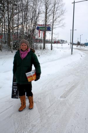 Johanna Rizell ska snart flytta hemifrån och köpte sig en ny tv och en radio på juldagen.