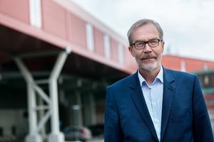 Mikko Jokio, brukschef/platschef på Stora Enso, Kvarnsvedens bruk fanns också på plats under torsdagens presskonferens.