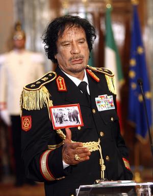 Pressad. Libyens diktator Moammar Gaddafi har nu FN:s säkerhetsråd emot sig.foto: scanpix