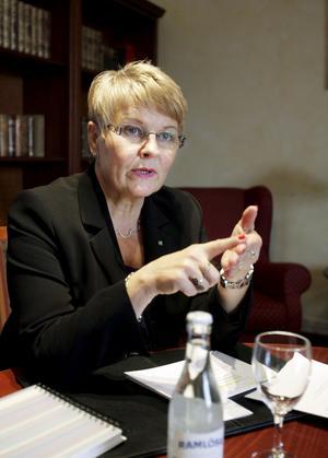 Mer krävs. Företagarna tycker att näringsminister Maud Olofsson behöver göra mer.Foto: Kenneth Hudd