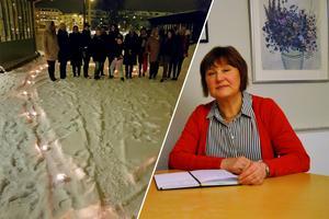 Kristina Lundgren (c) är kommunstyrelsens vice ordförande. Hon inledde kvällen med att berätta att den internationella kvinnodagen är nödvändig än idag.