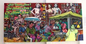 Utställningen innehåller en svit målningar som ger en omläsning av Paul Gauguins verk.