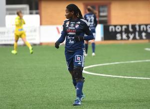Sarah Michael har ännu inte spelat för Kvarnsveden i Elitettan. Enligt KIK-ordföranden, Olle Davidsson, kan dock ett inhopp vara aktuellt mot Lidköping på lördagen.