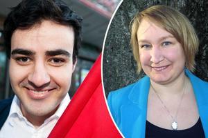 Ahmed Amin vice ordförande för Socialdemokraterna i Gävle och Elin Lundgren (S), riksdagsledamot för Gävleborg och ordförande för för Socialdemokraterna i Gävle,  går emot partiledningen i flyktingfrågan.
