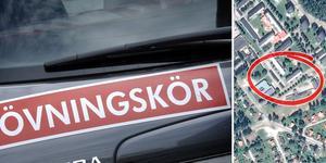 En olycka inträffade i samband med en övningskörning i Ludvika under måndagseftermiddagen.