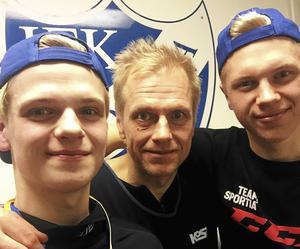 En period i vintras, efter att pappa Patrik tvingats till comeback, hade alla i Spångberg-trion hjärnskakning. Bild: Privat (bilden från 2017)