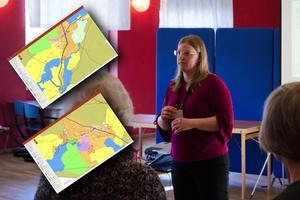 Frida Petersson var en av de som var ute på samrådsmötet i Svärdsjö för att svara på frågor.