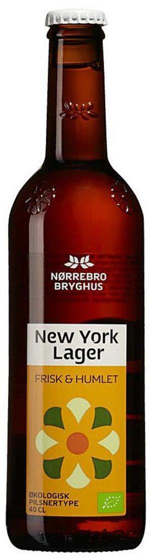 New York Lager Nørrebro Bryghus.