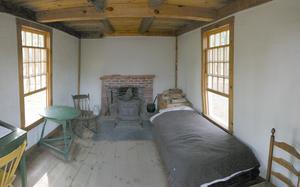 Så här såg förmodligen Thoreaus stuga ut inuti. Foto: Namlhots