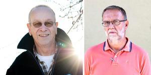 Lennart Waara (till vänster) är numer mest känd som engagerad ornitolog men driver också ett konsultbolag. Erik Tyrberg (till höger) är läkare. Foto: Tony Persson/ Annika Persson