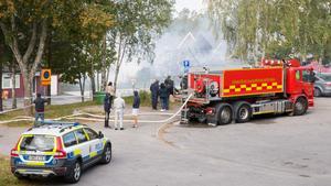 Från radhusbranden på Varnbäcksvägen i Hovsjö, 23 september.